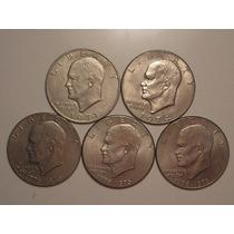 Usa) 5 Moedas 1 Dollar 1971d/1974d/2x1976d/1976-sem Letra