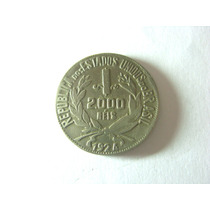Bela Moeda 2.000 Réis 1924 Falsa De Época, Curiosidade !!!