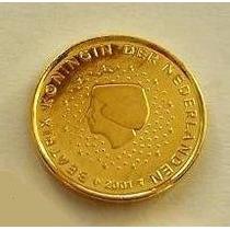 Moeda De Ouro 1 Centimo Euro Holanda 24 K