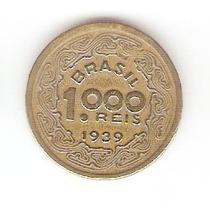 Moedas Antigas - 1000 Réis 1939 (tobias Barreto)