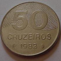 140.54 Moeda 50 Cruzeiros 1983 Plano Piloto Brasilia Inox