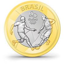 Moeda Rara De 1 Real 2015 - Jogos Olímpicos 2016 Futebol