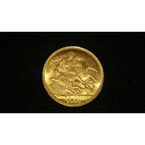 Moeda Inglaterra 1 Libra 1911 7,8 Gramas Ouro Novissima