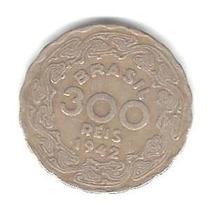Moedas Antigas - 300 Réis 1942 (vargas) Níquel Rosa