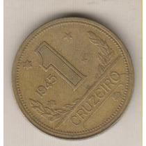 B143 - 1 Um Cruzeiro Reverso Inclinado 1945 Rara R$ 35,00