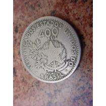 Antiga Moeda Brasileira De 400 Réis De 1901 Mcmi