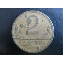 Moeda De 2 Cruzeiros De 1945 - Sem Siglas - V