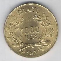 Brasil, 1000 Réis De 1927, Bronze-alumínio, Fc.