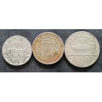 Lote Com 3 Moedas De 1936 - 200 ; 300 ; 400 Réis