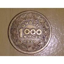 Moeda 1000 Réis Ano 1939 Mbc - Tobias Barreto