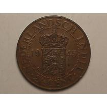 Sob) Netherland East Indies) 2-1/2 Cents - 1945 = Escassa