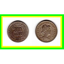 Moeda Brasil 1927 * 200réis * Lady * V F+ (582)