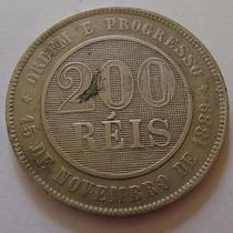 310.11 Moeda Antiga E Rara De Cubro-níquel 200 Réis