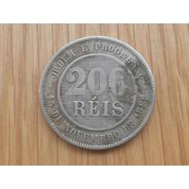 Moeda Brasileira Da Rep. Velha - 200 Réis