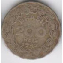 Moeda 200 Reis 1942 Ref. 168