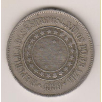 A257 - 200 Duzentos R.é.i.s 1889 Excesso Metal R$ 45,00