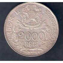 2000 Reis - 1912 - Est Ligadas - Prata 900 - 20 Gr - 33 Mm
