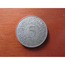 Moeda - Alemanha - 5 Deutsche Mark - 1951 - Prata - Mbc