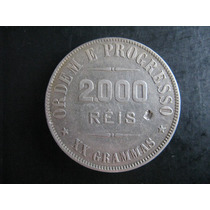Moeda De 2000 Réis De 1907 - Peso Em Gramas
