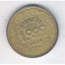Brasil 1000 Réis 1939 S/f, Bronze-alumínio. Tobias Barreto