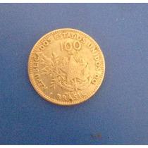 Moeda Antiga 100 Réis República Dos Estados Unidos Do Brasil