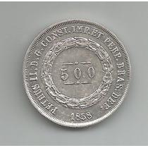 Moeda De Prata 500 Reis. 1858. Soberba. Catálogo Amato P591