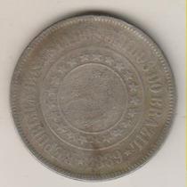 F48 - 200 Duzentos Réis 1889 Moeda De Níquel R$ 10,00
