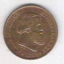 Moeda Do Brasil, 20 Réis De 1869, Bronze, Soberba.