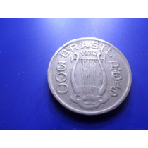 Moeda 300 Reis Carlos Gomes 1936 Frete Custa 7 Reais