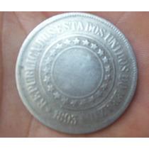 Moeda 200 Reis 1893 República Velha