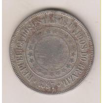 A286 - 200 Réis 1897 Moeda Da República Níquel R$ 20,00