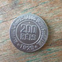 Moedas Antigas Do Brasil - 200 Réis Ano 1929 Cupro Níquel