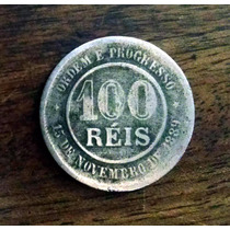100 Réis Rev. Inclinado 1893