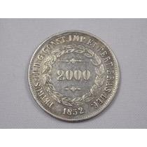 Bela Moeda De Prata - Brasil Imperio - 2000 Réis - 1852