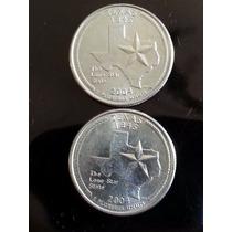 Moeda Estados Unidos - 25 Cents - Comemorativa Texas/2004