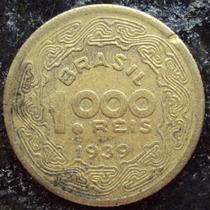 Moeda 1000 Réis - Amarela - 1939 - Tobias Barreto - G
