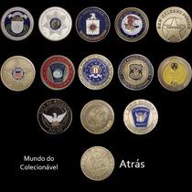 Moedas Polícia E Departamentos Estados Unidos - 40x3mm V.uni