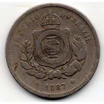 Moeda 100 Reis 1887 Ref 029 Imperio