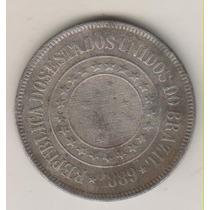 F49 - 200 Duzentos Réis 1889 Moeda De Níquel R$ 10,00