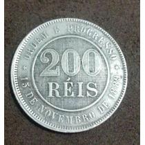 Moeda 200 Reis 1889 Rara E Perfeita