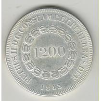 1200 R.é.i.s 1843 37 Mm 22 Gramas Réplica Rara Moeda R$ 58,0