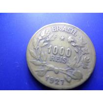 Moeda 1000 Reis Figura Da Abundância 1927