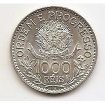 Brasil, Moeda De 1000 Réis, 1913, Prata, Fc
