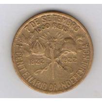Moeda Brasil 1000 Réis 1922 1º Centenário Da Independencia