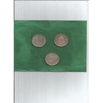 Moedas 100 Reis - Ano 1888/87/89 (3moedas) - Imperio - 30.00