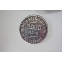 Moeda Antiga 2.000 Reis- 1912 - Prata- Xx Gramas