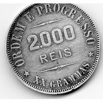 Moeda Prata Xx Grammas 2000 Réis 1912