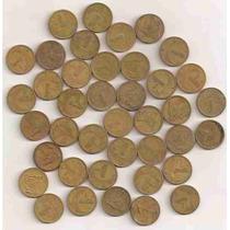 Ml- X = Lote 100 Moedas De 1 Cruzeiro De Bronze-aluminio