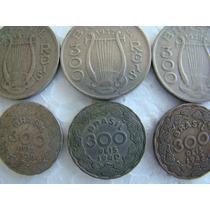 Lote 6 Moedas 300 Réis 1936, 37, 38 (2), 40, 42 Fotos Moedas