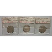 Série Completa 50 Réis Império - 3 Moedas - 1886, 1887, 1888